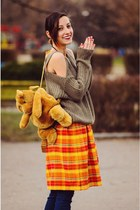multicolored second hand dress - cold shoulders Choies sweater