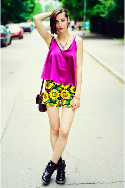 cami Choies top - sunflowers Choies shorts