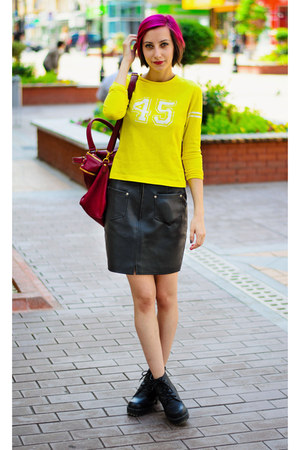 leather second hand skirt - second hand shirt