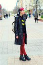 Leather-jacket-second-hand-jacket-red-jeans-new-yorker-jeans-hoodie