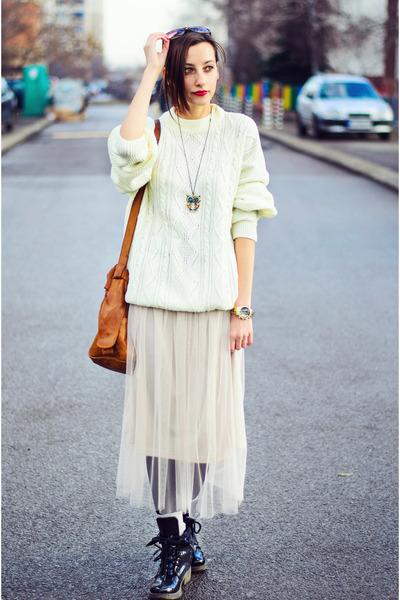 second hand sweater - tulle nowIStyle skirt