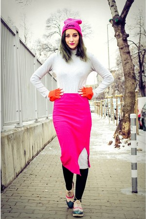 pencil second hand skirt - turtleneck slim second hand dress