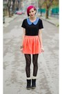 Collar-nowistyle-top-bershka-skirt-river-island-wedges