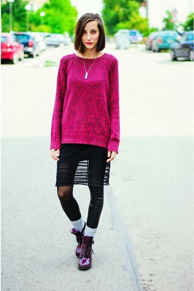 lace slip Kookai dress - H&M sweater