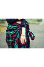 Plaid-oversize-nowistyle-shirt-bornpretty-necklace-bornpretty-bracelet
