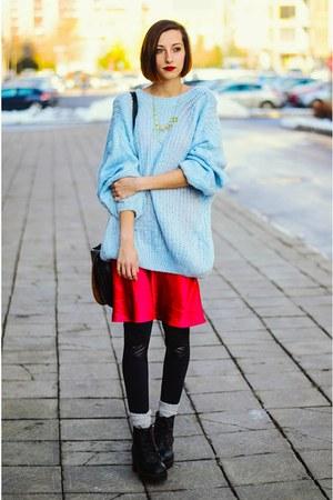 Choies sweater - Choies necklace