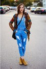 Denim-overalls-choies-jeans-yoins-cardigan