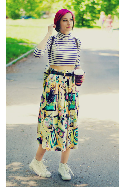 vintage skirt - DIY top