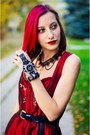 Gothic-red-rose-dirndl-dress-born-pretty-watch