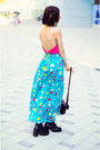 Nmenouno-top-dotted-maxi-nmenouno-skirt