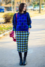 Plaid-vintage-sweater-plaid-pencil-nowistyle-skirt