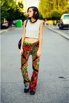 cropped top - bell bottoms voyage passion pants