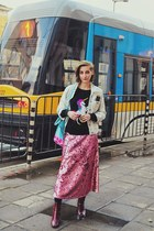 pink sequin H&M skirt
