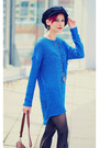 Blue-knitted-nowistyle-top