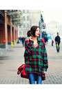 Plaid-oversize-nowistyle-shirt-retro-golden-sammydress-necklace
