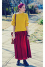 Msdressy-dress-mustard-second-hand-sweater