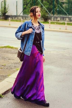 Choies jacket - second hand dress - black bohemian second hand top
