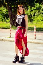 red maxi style moi skirt - style moi ring - style moi top