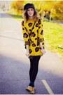 Camel-chelsea-stradivarius-boots-cap-h-m-hat-yoins-sweater