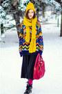 Mustard-nowistyle-hat-vintage-sweater-mustard-la-redoute-scarf