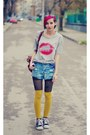 Studded-nowistyle-shorts-kiss-nowistyle-t-shirt