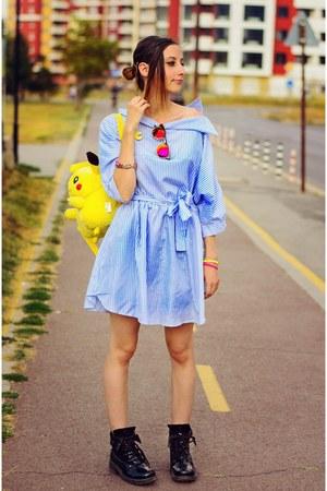 Choies dress - mirrored H&M sunglasses - Rocketraptor accessories