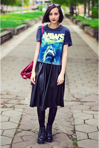 jaws H&M t-shirt - Choies skirt