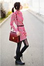 Striped-nowistyle-dress-vintage-second-hand-bag