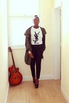 YSL top - new look pants