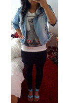 Zara jacket - Hellz Bellz shirt - H&M skirt - Vero Moda leggings -  shoes