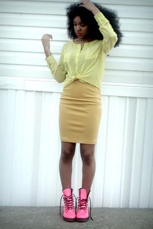 cream soft blouse