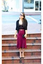 asos skirt - Zara blouse - vince cardigan