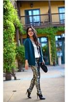 H&M cardigan - H&M pants - Nanette Lepore blouse