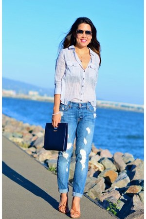 7 for all mankind jeans - free people shirt