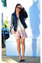 Zara skirt - Zara jacket - Tibi heels