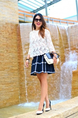 Dolce Vita top - Alice and Olivia skirt