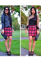 tildon skirt - cesare paciotti boots - JouJou jacket - Alice and Olivia sweater