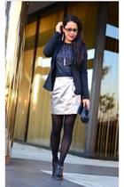 dvf skirt - Alice & Olivia blazer - Zara shirt