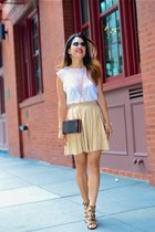 Alice  Olivia skirt - Zara top - Charles David sandals