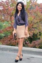 Menbur purse - Oliver Peoples sunglasses - Gucci heels - Joie skirt