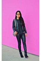 Carlos boots - BLANKNYC jacket - Zara top - BLANKNYC pants