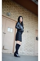 catherine malandrino skirt - Mike & Chris jacket - Kenneth Cole wedges