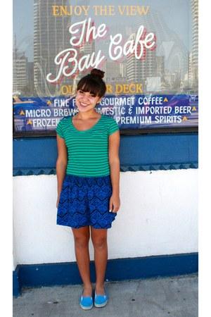 blue skirt - turquoise blue shirt