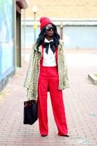 red Prada blazer - camel leopard print Forever 21 coat