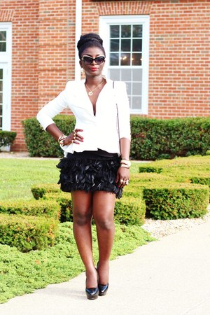 black feather Zara skirt