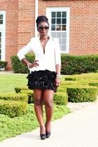 black feather Zara skirt