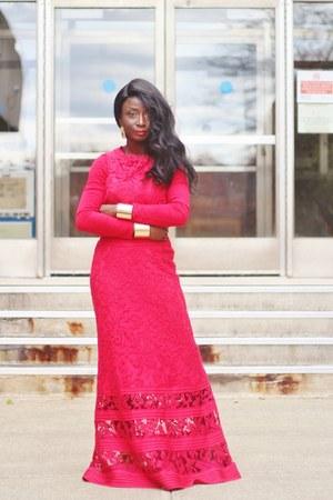 red lace TadashiShoji dress