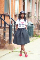 black midi Express skirt