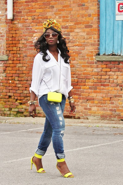 dior shirt - H&M heels