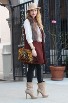 Zara coat - Cavalli bag - Topshop blouse